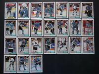 1992-93 Topps San Jose Sharks Team Set of 24 Hockey Cards