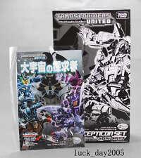 TAKARA TOMY Transformers e-hobby Exclusive United DECEPTICON Set w/comic, pins