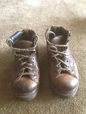 Dr Doc Martens Brown Leather Boots Mens Size 8E US Made in England!!!