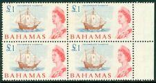 EDW1949SELL : BAHAMAS 1965 Scott #218 Ships. Blk of 4. VF, Mint OG LH. Cat $60+