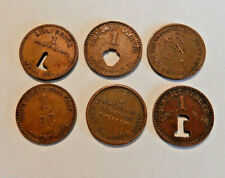 West Virginia Coal Scrip Lot of 6 one cent tokens:Lundale,Amherst,Lillybrook etc