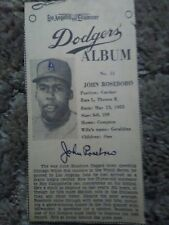 1960 Los Angeles Examiner JOHN ROSEBORO DODGERS Newspaper Card #11 (sku662)