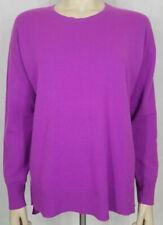 Fuchsia purple 100% Cashmere crew neck pullover sweater ladies Large unbranded