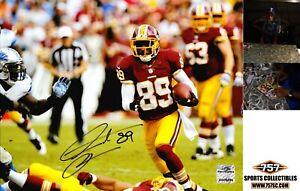 Washington Redskins Santana Moss Signed Auto 8x10 Photo ( JSA PSA BAS Pass) 757