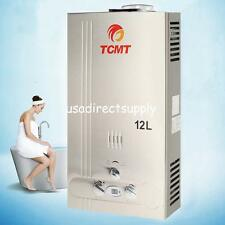 12L Natural Gas Tankless Hot Water Heater 3.2GPM Instant Boiler Stainless Steel