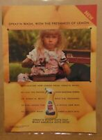 Vintage 90's SPRAY 'N WASH Laundry Lemon Stain Remover Print Ad Advertising