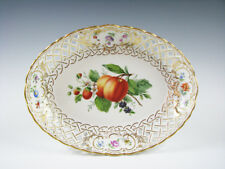 Superb Antique Helena Wolfsohn Dresden Open Rim Bowl with Fruit German Porcelain