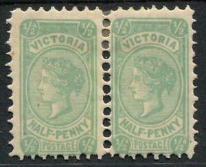 Victoria 1901-10 (SG.384ba) Wmk V/Crown (upright) Perf.12½, ½d Blue-Green Die II