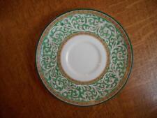"Wedgwood green Praze THREE bone china 6 1/4"" cream soup saucers only W2785"