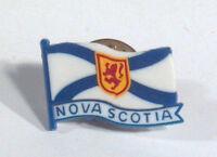 """Vintage Nova Scotia Canada Flag Lapel Hat Pin 3/4"""" Tie Tack Plastic"""