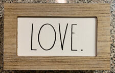 Rae Dunn Wooden LOVE Sign/Plaque Black And White LL Valentines Day Decor