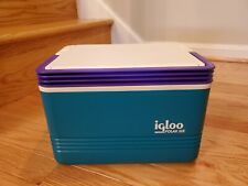 New listing Igloo Polar Six Teal Purple Small Cooler Lunch Box Ice Chest Hold 6 Cans