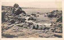 Monterey Bay California Near the Lighthouse Real Photo Antique Postcard J67047