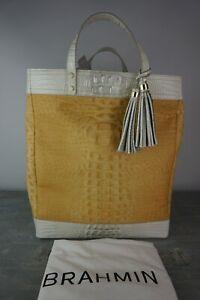 Brahmin Large Miriam II Daydream Bijou Straw Weave & Leather Tote---NWT $265