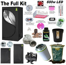 More details for complete 600w led grow tent kit set up + all sizes indoors hydroponics herb room