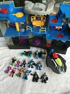 Batcave Imaginext Playset Plus 11 Figures +3 Vehicles Batman, Joker, Harley ++++