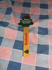 Cute Merry Christmas Teacher Bookmark Tree Motif  7 1/4 Inch High