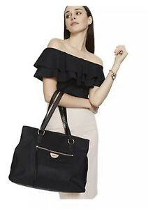 Mimco Echo Worker TOTE Hand Bag BNWT BLACK ROSE GOLD Large Free post Authentic
