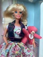 TEDDY FUN BARBIE DOLL VINTAGE MATTEL 1996 MADE IN INDONESIA NIB NRFB