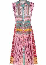 NWT Diane von Furstenberg Nieves Pink Zen Scarf A-Line Dress 6 $528