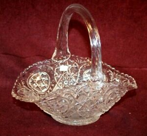 EAPG Handled Glass Basket - Pattern & Maker Unknown to Me
