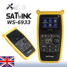 "Satlink WS-6933 HD DVB-S2 Digital Satellite Signal Finder SAT Meter LCD 2.1"" USB"