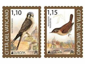 VATICAN  2021  EUROPA CEPT BIRDS Endangered Wildlife - SET MNH