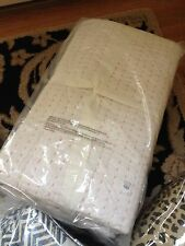 Pottery Barn Whipstitch Wholecloth Quilt King Set 3 Euro Shams White Rose Thread