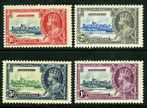 British 1935 KGV Silver Jubilee Ascension Scott # 33-36  Mint Non Hinged Y232
