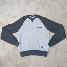 New listing Champion Sweatshirt Womens S Small Gray Colorblock Ladies Crew Neck Long Sleeve