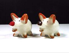 Snort! BIG NOSE Little Piggies PIG Vintage SALT & PEPPER SHAKERS Glass Ceramic