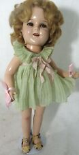 IDEAL DOLL VINTAGE SHIRLEY TEMPLE TAGGED CLOTHES DRESS RESTORE REPAIR FIX MEND