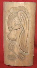 Vintage Wall Decor Wood Plaque Girl Flower