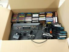 Atari 2600 Bundle System + 50 Games Tested Ms Pac Man Frogger Q Bert Yar's Rev
