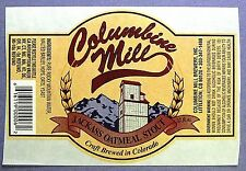 Columbine Mill Brewery  JACKASS OATMEAL STOUT beer label CO 12oz STICKER