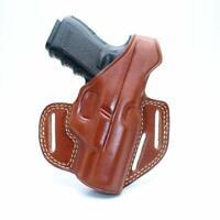 Leather Three Slot Pancake Holster IWI MASADA 9mm Square Trigger Guard 4.1'' BBL