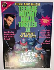 Vanilla Ice signed Official Movie Magazine The Secret of the Ooze Ninja Turtles
