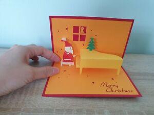 3d Popup Santa Play Piano Card