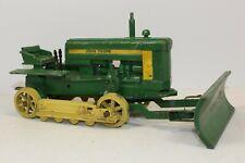 John Deere 40 Crawler Dozer w/ Blade Great 1/16th, Ertl Eska USA made Farm Toys
