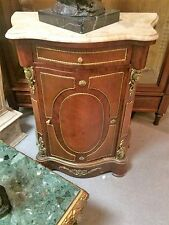 French-style Cabinet with Beige Marble Top