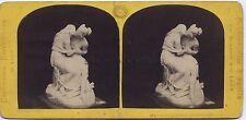 Atala et Chactas par Fraccaroli sculpteur Italie Expo Paris 1867 Stereo Vintage
