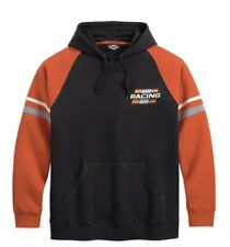 NEW Harley Davidson Racing Mens Orange/Black Hoodie Size Large
