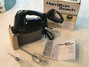 NEW Hamilton Beach 6 speed Hand Mixer with snap-on case Black 250W model 62683