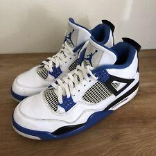 2016 Nike Air Jordan 4 Retro Motorsport White Blue Sneakers 308497-117 Size 13