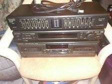 Technics stereo graphic equalizer digital surround and dual cassette deck