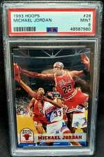 Michael Jordan 1993 Hoops #28 PSA 9 Mint HOF Chicago Bulls 1993-94