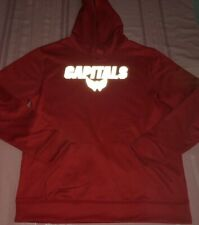 Washington Capitals Synthetic Pullover Hoodie Large Red Awesome Majestic NHL
