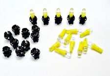 15 Yellow Dome LEDs Lights Bulbs 3/8 Sockets Instrument Panel Cluster Dash Chevy