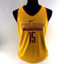 NIKE Team Iowa State Cyclones Official Jersey Reversible Yellow Large Tall A1A