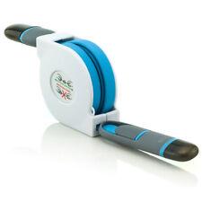 Ausziehbares Flachbandrolle8 Pin Lightning & Micro USB Daten/Ladekabel Blau